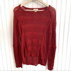 Sundance Womens Sz M Open Crochet 100% Linen